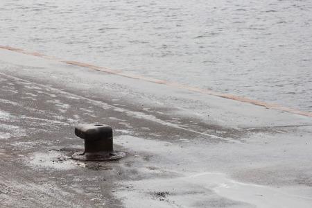 dullness: mooring equipment on the pier