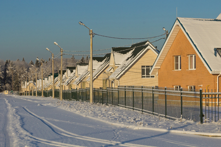 gated: gated on a winter day