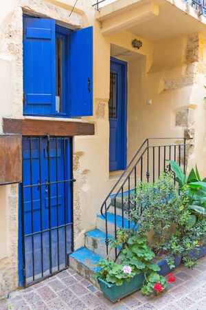 colorful city of Chania, located in Crete, Greece  photo