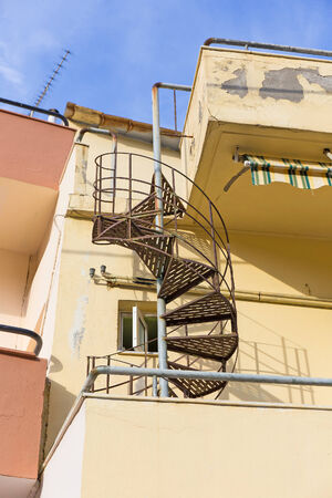 two floors: spiral staircase connecting the two floors of the house and serves to evacuate