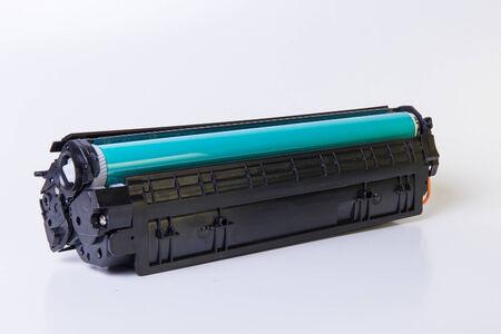 Laser printer cartridge on white
