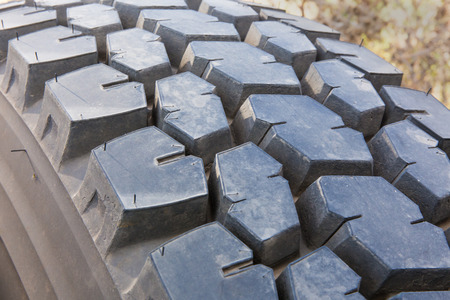 disposed: tread of the tire on the wheel of the truck