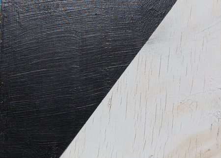 clincher: wooden surface painted in black and white Stock Photo