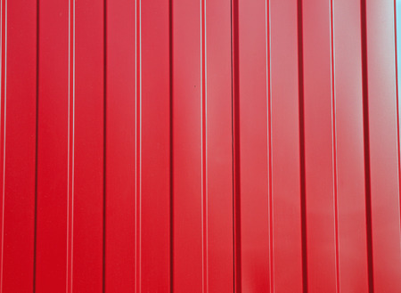 intermodal: The wall of the cargo container of red. Background.