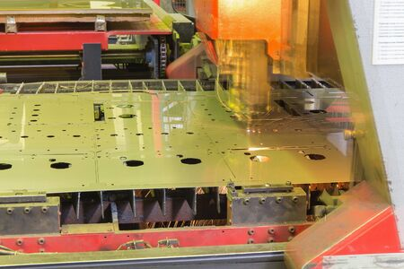 laser cutting machine during operation photo