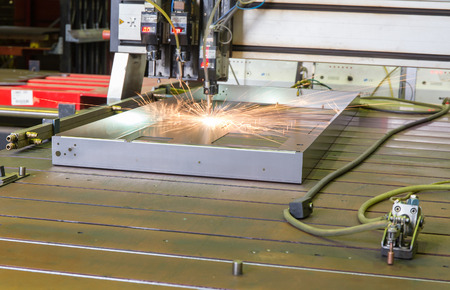 automatic welding process in the production of Stock Photo