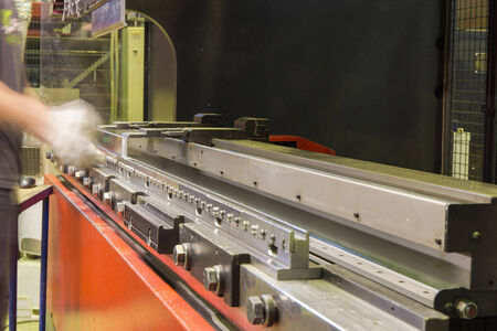 frenos: moderno freno de la prensa en la industria manufacturera Foto de archivo