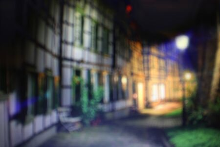 crowded space: Defocused view of London with bokeh effect