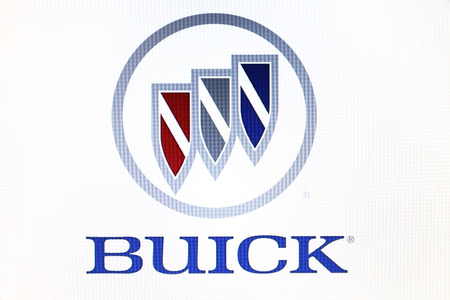St. Petersburg, Russia-February 10, 2015: Buick logo on the screen . Is a famous world brand.