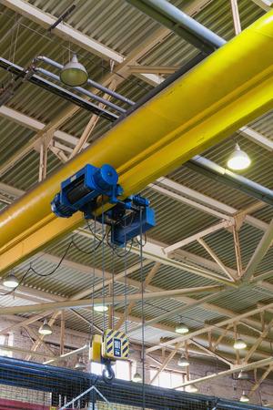 hoist: electric monorail hoist for industrial enterprise Stock Photo