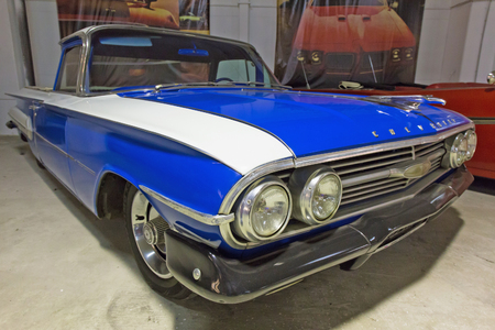 ST. PETERSBURG, RUSSIA - FEBRUARY 24, 2015 : Chevrolet El Camino 1960 at the exhibition Muscle Car.