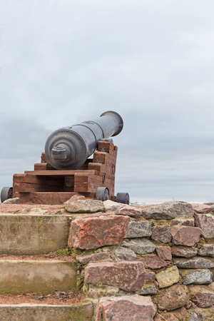 fortified wall: the old cannon on the fortified wall