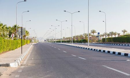 sharm: view of african road in Sharm al Sheikh, Egypt Stock Photo