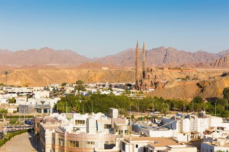 sharm: Panorama of a view of  the old city from height. Egypt. Sharm el-Sheikh.