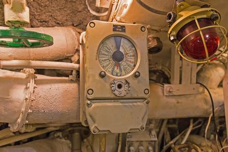 engine room: details of the interior diesel submarines