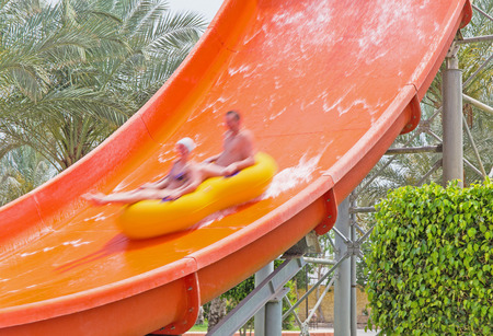 rapidly: steam is rapidly going down the water slide