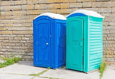 watercloset: two mobile bio toilet on the street