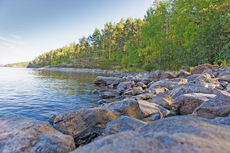 ladoga: coast of lake Ladoga in Karelia in the summer