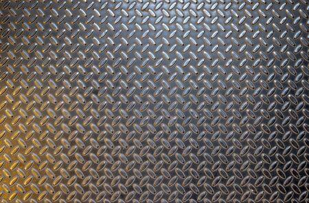 steel sheet: Dark gray steel sheet with relief diamond pattern and light spots