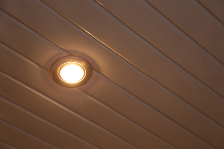 ceiling: lighting lamp built into the ceiling Stock Photo