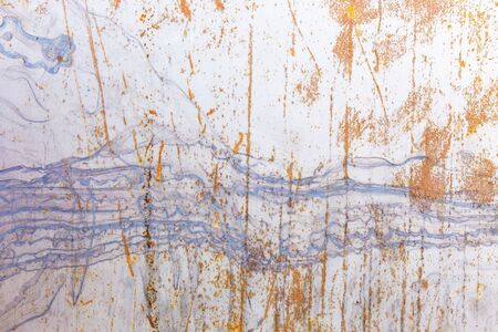 scratches: old painted metal surface with scratches and scuffs