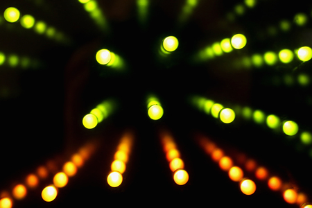 green diode lights on black background Stock Photo