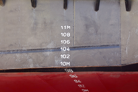 numbering: draft scale numbering close up