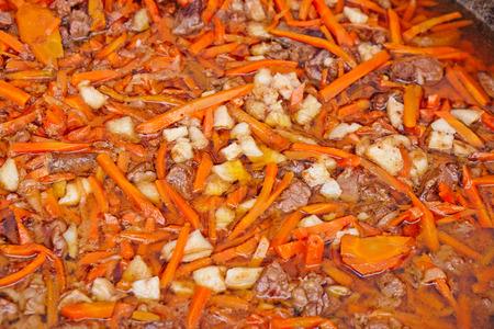 freshly prepared: freshly prepared pilaf closeup