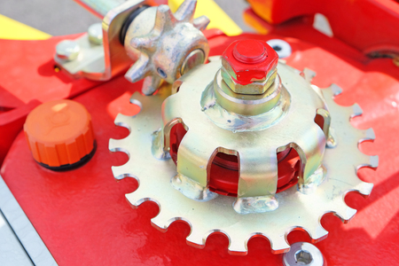machinery: Gear wheels in agricultural machinery Stock Photo