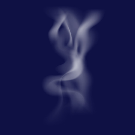 Smoke smooth light lines vector background.