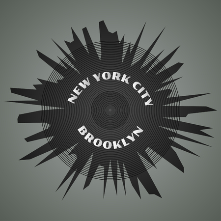 New York City, Brooklyn, typography, t-shirt graphics, poster, gothic style, vector concept