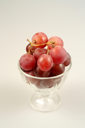 red grape in glass Stock Photo
