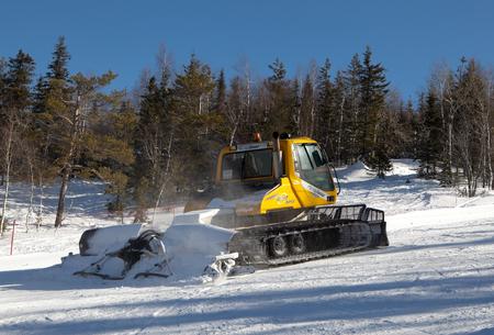 snowcat: Snowcat moves to the White Mountain ski resort. Nizhny Tagil. Russia