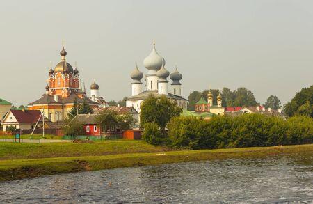 assumption: Marian Tikhvin Assumption Monastery. Russia. Stock Photo