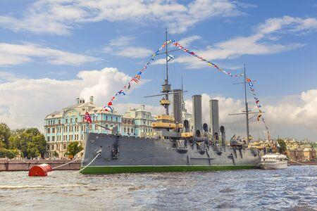 Cruiser Aurora. St. Petersburg. Russia.