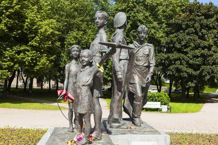 grand son: Monument Children of War. St. Petersburg. Russia. Editorial