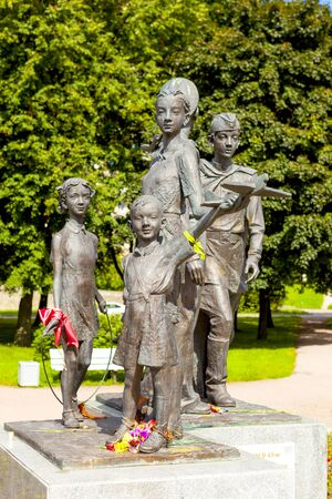 grand sons: Monument Children of War. St. Petersburg. Russia. Editorial