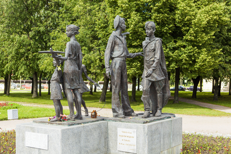 grand son: Monument Children of War. St. Petersburg. Russia. Editorial