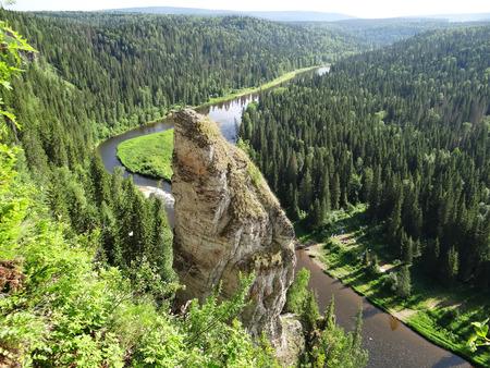 fucking: Fucking finger array Usvinskie pillars. Perm Krai. Russia.