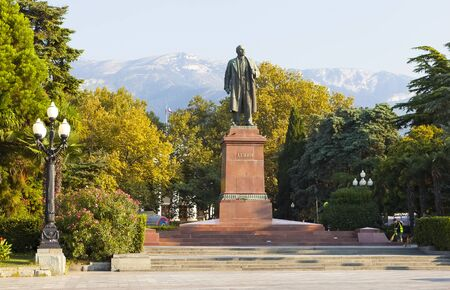 statesman: The monument to Vladimir Lenin. Yalta. Crimea.