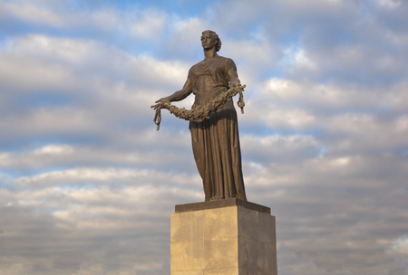 stele: The monument Motherland. St. Petersburg. Russia.