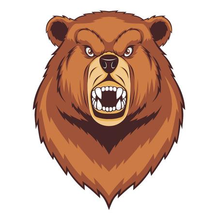 Roaring bear head mascot. Standard-Bild - 118558207
