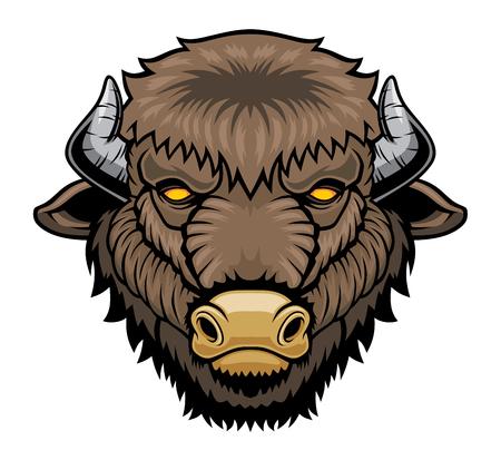 Bison head mascot.