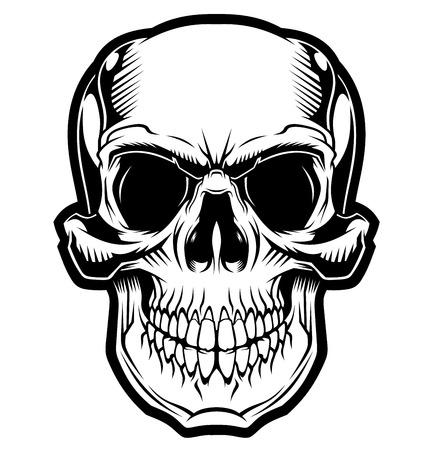 The smile of the skull. Ilustração Vetorial