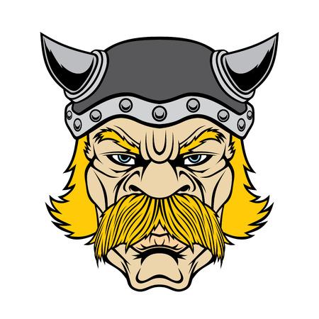 Cabeza de guerrero vikingo.
