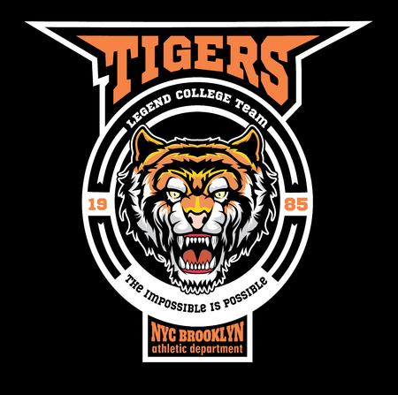 Mascot Tigers - sport team template.
