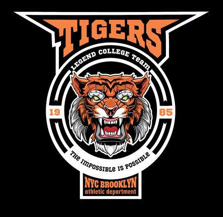 Mascot Tigers - sport team template.