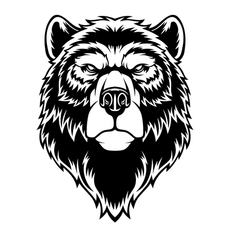 Mascota de cabeza de oso.