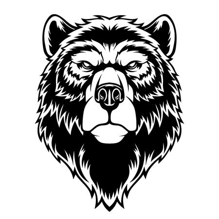 Bear head mascot. Illustration