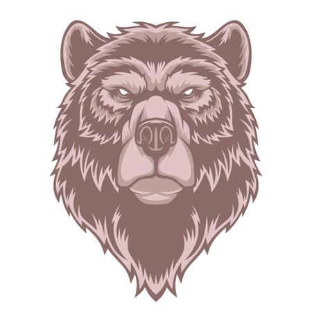 Bear head mascot. Ilustração